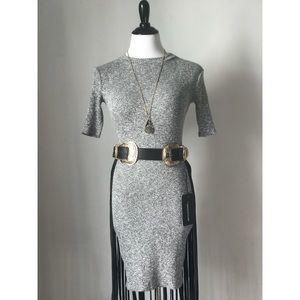 Short Sleeve Ribbed Dress